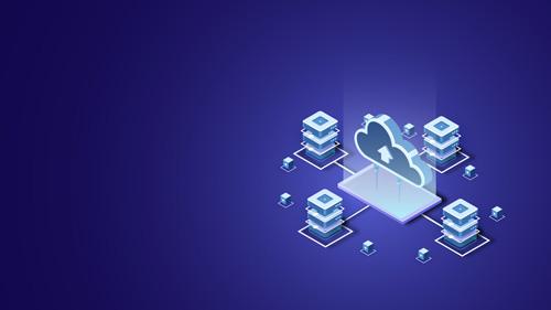 Hosting and servers illustration