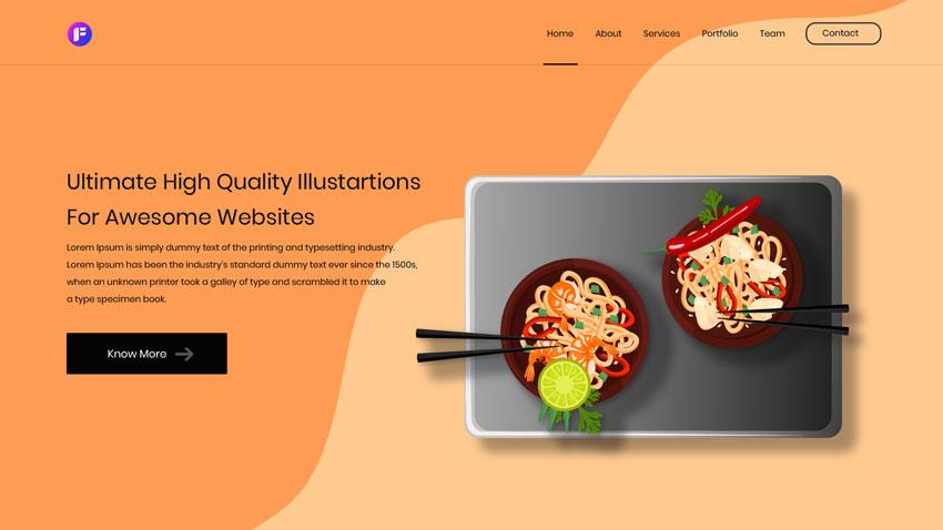 Food services, Hotels illustration